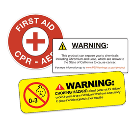 Custom Warning & Safety Labels